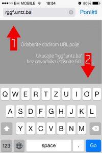 Korak 1: Otvorite Safari pretraživač i unesite adresu naše web stranice.