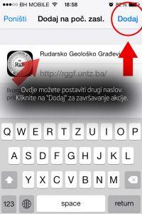 "Korak 4: Izmjenite naslov ikone ukoliko želite i kliknite na opciju ""Dodaj""."
